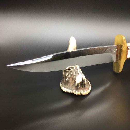dague de chasse manche en bois de cerf