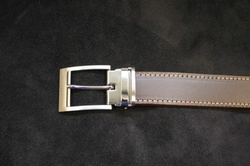 Ceinture de 35 mm, marron, cuir véritable avec boucle à griffe pour changer la couleur de la ceinture
