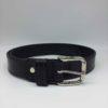 ceinture cuir noire boucle argentée
