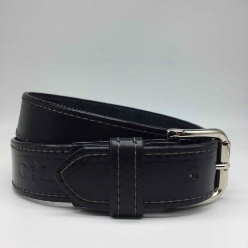 ceinture en cuir noir homme