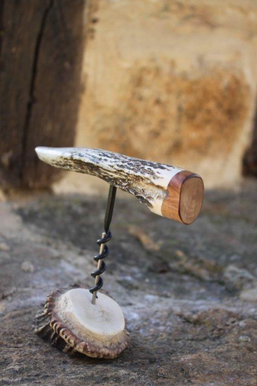 Tir bouchon artisanal objet de collection, véritable bois de cerf