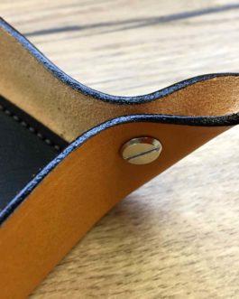 Vide poches en cuir couleur naturel