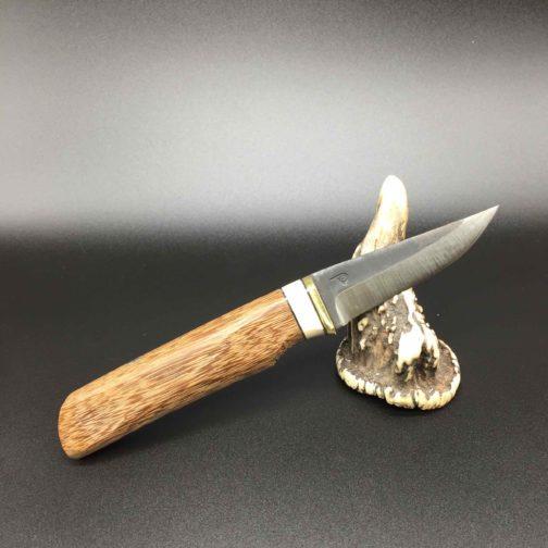 couteau style finlandais en wacapou et os